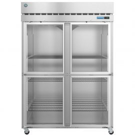 Hoshizaki  R2A-HG, Refrigerator, Two Section Upright, Half Glass Doors with Lock