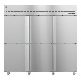 Hoshizaki  R3A-HS, Refrigerator, Three Section Upright, Half Stainless Doors with Lock