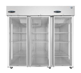 Hoshizaki  CR3S-FGE, Refrigerator, Three Section Upright, Full Glass Doors
