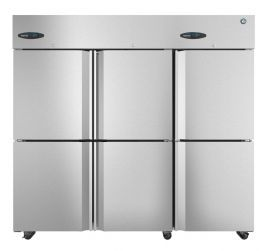 Hoshizaki  CR3S-HS, Refrigerator, Three Section Upright, Half Stainless Doors