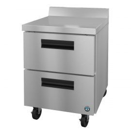 Hoshizaki CRMR27-WD, Refrigerator, Single Section Worktop, Stainless Drawers