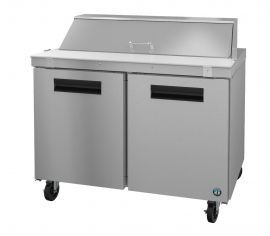 Hoshizaki CRMR48-12, Refrigerator, Two Section Sandwich Prep Table, Stainless Doors