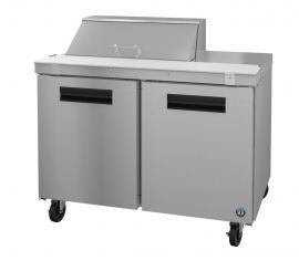 Hoshizaki CRMR48-8, Refrigerator, Two Section Sandwich Prep Table, Stainless Doors