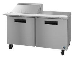 Hoshizaki CRMR60-12M, Refrigerator, Two Section Mega Top Prep Table, Stainless Doors