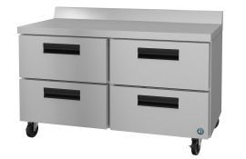 Hoshizaki CRMR60-WD4, Refrigerator, Two Section Worktop, Stainless Drawers