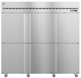 Hoshizaki F3A-HS, Freezer, Three Section Upright, Half Stainless Doors with Lock