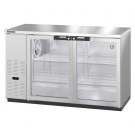 Hoshizaki BB59-G-S, Refrigerator, Two Section, Stainless Steel Back Bar Back Bar, Glass Doors