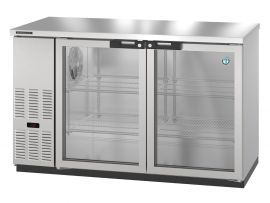 Hoshizaki HBB-2-59-S, Refrigerator, Two Section, Stainless Steel Back Bar, Solid Doors