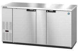 Hoshizaki HBB-2G-LD-59, Refrigerator, Two Section, Black Vinyl Back Bar , Glass Doors