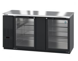 Hoshizaki HBB-3G-LD-69-S, Refrigerator, Two Section, Stainless Steel Back Bar, Glass Doors