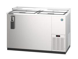 Hoshizaki HBB-4G-LD-95, Refrigerator, Three Section, Black Vinyl Back Bar, Glass Doors