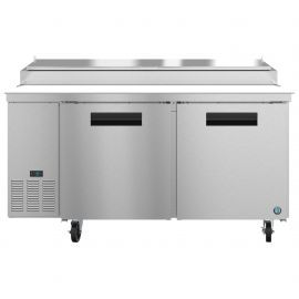 Hoshizaki PR67A, Refrigerator, Two Section Pizza Prep Table, Stainless Doors