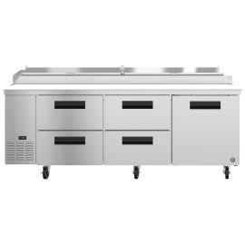 Hoshizaki PR93A-D4, Refrigerator, Three Section Pizza Prep Table, Drawer/Door Combo