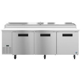 Hoshizaki PR93A, Refrigerator, Three Section Pizza Prep Table, Stainless Doors