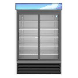 Hoshizaki RM-45-SD-HC, Refrigerator, Two Section Glass Door Merchandiser