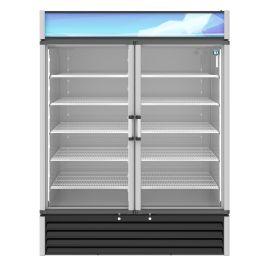 Hoshizaki RM-49-HC, Refrigerator, Two Section Glass Door Merchandiser