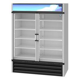 Hoshizaki RM-49, Refrigerator, Two Section Glass Door Merchandiser