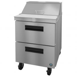 Hoshizaki SR27A-8D2, Refrigerator, Single Section Sandwich Prep Table, Stainless Drawers