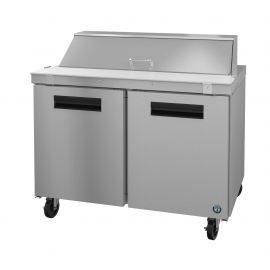 Hoshizaki SR48A-12, Refrigerator, Two Section Sandwich Prep Table, Stainless Doors