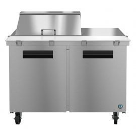Hoshizaki SR48A-12M, Refrigerator, Two Section Mega Top Prep Table, Stainless Doors