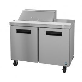 Hoshizaki SR48A-8, Refrigerator, Two Section Sandwich Prep Table, Stainless Doors