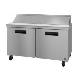 Hoshizaki SR60A-16, Refrigerator, Two Section Sandwich Prep Table, Stainless Doors