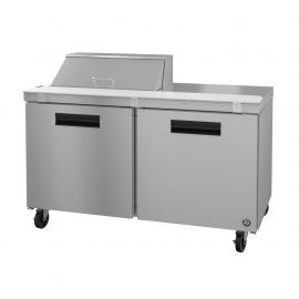 Hoshizaki SR60A-8, Refrigerator, Two Section Sandwich Prep Table, Stainless Doors
