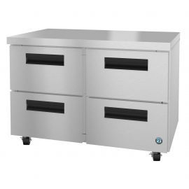 Hoshizaki UF48A-D4, Freezer, Two Section Undercounter, Stainless Drawers