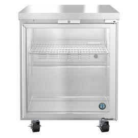 Hoshizaki UR27A-GLP01, Refrigerator, Single Section Undercounter, Full Glass Door