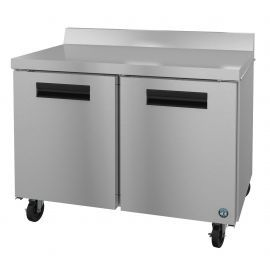 Hoshizaki WR48A, Refrigerator, Two Section Worktop, Stainless Doors