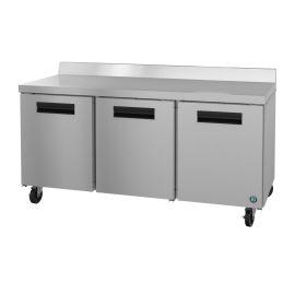 Hoshizaki WR72A, Refrigerator, Three Section Worktop, Stainless Doors