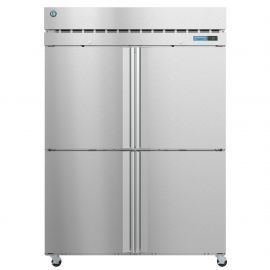 Hoshizaki  F2A-HS, Freezer, Two Section Upright, Half Stainless Doors with Lock