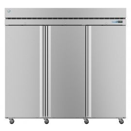Hoshizaki  F3A-FS, Freezer, Three Section Upright, Full Stainless Doors with Lock