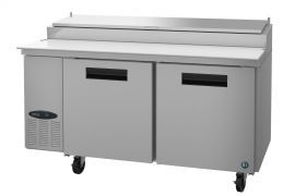Hoshizaki CPT67, Refrigerator, Two Section Pizza Prep Table, Stainless Doors