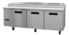 Hoshizaki CPT93, Refrigerator, Three Section Pizza Prep Table, Stainless Doors