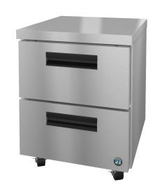 Hoshizaki CRMF27-D, Freezer, Single Section Undercounter, Stainless Drawers