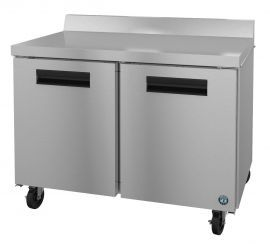 Hoshizaki CRMF48-W, Freezer, Two Section Worktop, Stainless Doors