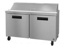 Hoshizaki CRMR60-16, Refrigerator, Two Section Sandwich Prep Table, Stainless Doors