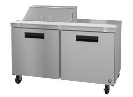 Hoshizaki CRMR60-8, Refrigerator, Two Section Sandwich Prep Table, Stainless Doors