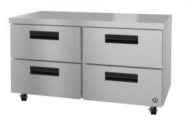 Hoshizaki CRMR60-D4, Refrigerator, Two Section Undercounter, Stainless Drawers