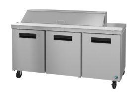 Hoshizaki CRMR72-16, Refrigerator, Three Section Sandwich Prep Table, Stainless Doors