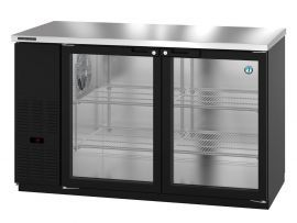 Hoshizaki HBB-2G-LD-59-S, Refrigerator, Two Section, Stainless Steel Back Bar, Solid Doors