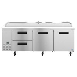 Hoshizaki PR93A-D2, Refrigerator, Three Section Pizza Prep Table, Drawer/Door Combo