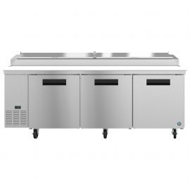 Hoshizaki PR93A, Refrigerator, Three Section Pizza Prep Table, Stainless Doors