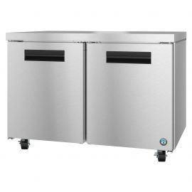 Hoshizaki UF48A, Freezer, Two Section Undercounter, Stainless Doors