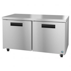 Hoshizaki UF60A, Freezer, Two Section Undercounter, Stainless Doors