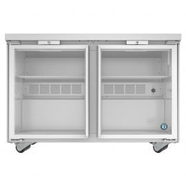 Hoshizaki UR48A-GLP01, Refrigerator, Two Section Undercounter, Stainless Doors