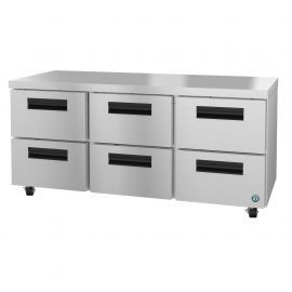 Hoshizaki UR72A-D6, Refrigerator, Three Section Undercounter, Stainless Drawers